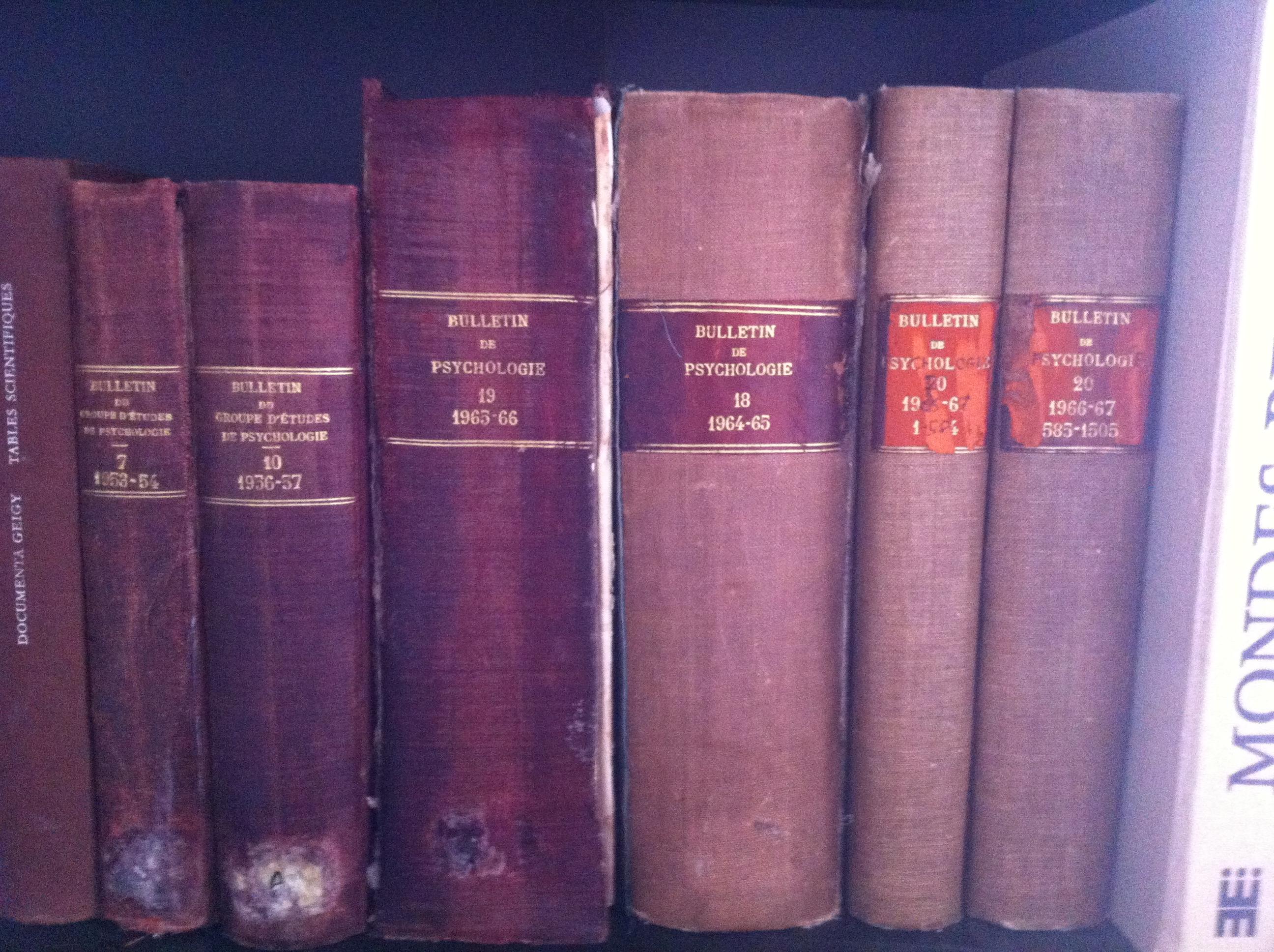 Bulletins de Psychologie - 1953 à 1967